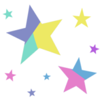 カラフルな星のイラスト