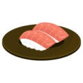 トロのお寿司のイラスト(回転寿司)