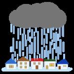 ゲリラ豪雨のイラスト2