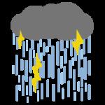 ゲリラ豪雨のイラスト3