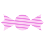 ピンクの包みのキャンディーのイラスト