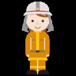 消防士の女性のイラスト