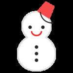雪だるまのアイコンのイラスト