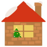 クリスマスの家のイラスト