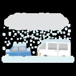 豪雪に埋まる車のイラスト