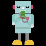 お茶を飲むロボットのイラスト1