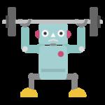 筋トレをするロボットのイラスト1
