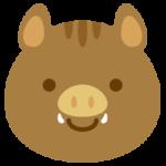 猪のイラスト(正面顔アップ1)